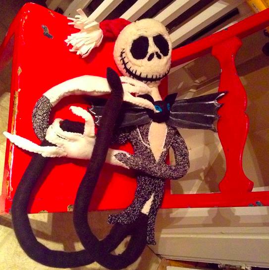 Fait accompli! Socks, cashmere, felt. #recycledcrafts #nightmarebeforechristmas